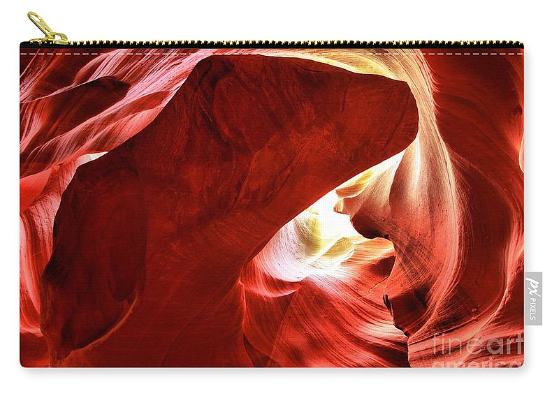 Heart Of The Canyon Carry-all Pouch featuring the photograph Head Of The Dog by Adam Jewell