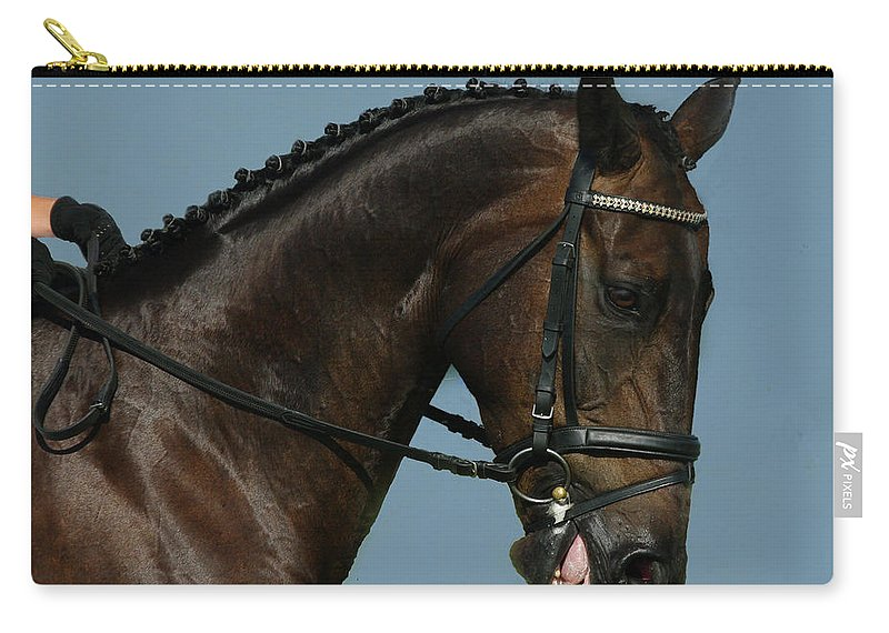 Horse Carry-all Pouch featuring the photograph Head Shot by Jenny Gandert