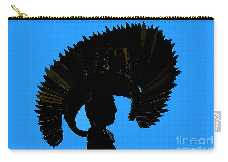 Headdress Carry-all Pouch featuring the painting Headdress by David Lee Thompson