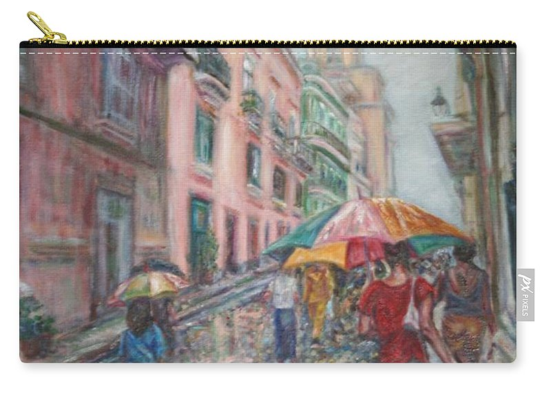 Women Carry-all Pouch featuring the painting Heading Home In Havava by Quin Sweetman