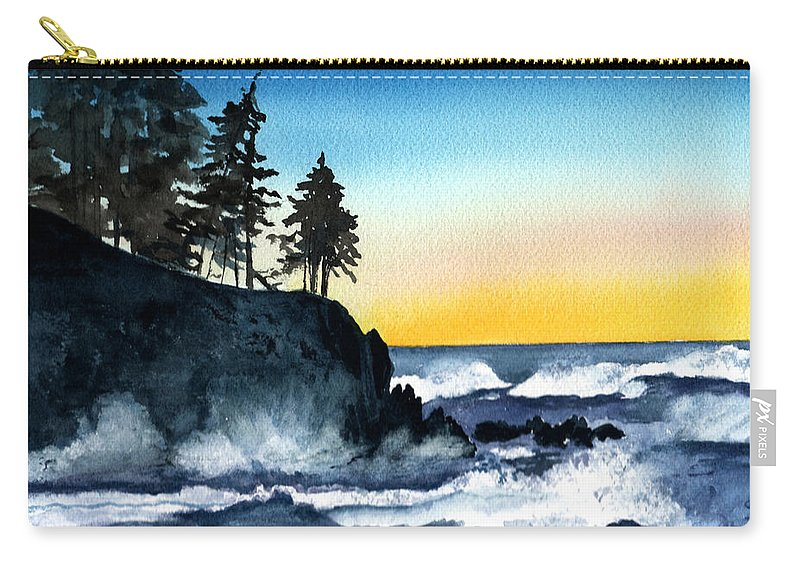 Alaska Carry-all Pouch featuring the painting Headland by Brenda Owen
