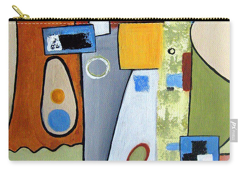 Abstract Carry-all Pouch featuring the painting Headspin II by Ruth Palmer