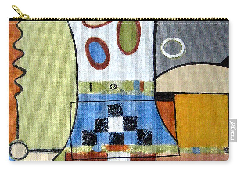 Abstract Carry-all Pouch featuring the painting Headspin by Ruth Palmer