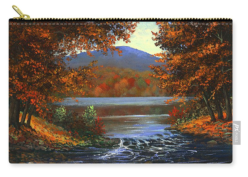 Landscape Carry-all Pouch featuring the painting Headwaters by Frank Wilson