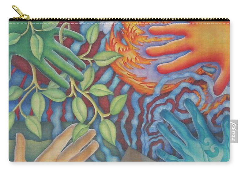 Nature. Love Carry-all Pouch featuring the painting Healing Hands Of Love by Jeniffer Stapher-Thomas