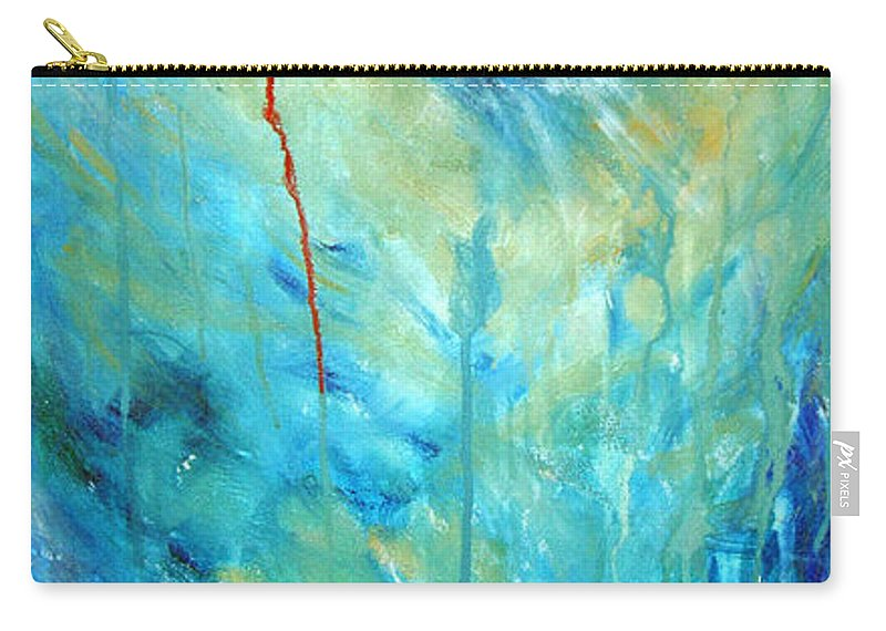 Acrylic Carry-all Pouch featuring the painting Healing II by Nancy Mueller