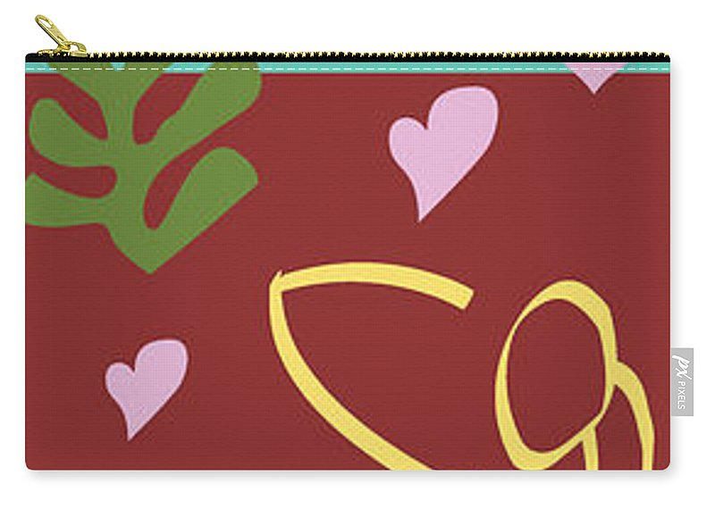 Henri Matisse Carry-all Pouch featuring the painting Health - Celebrate Life 3 by Xueling Zou