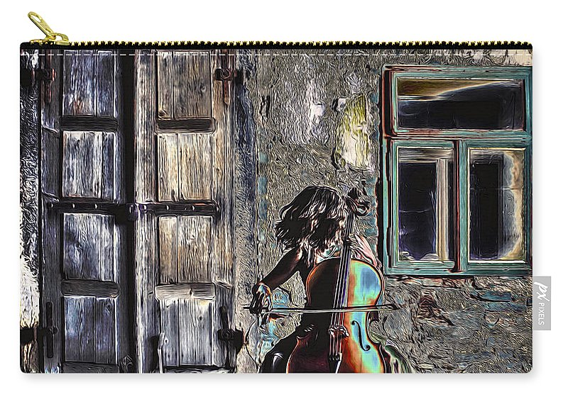 Cello Carry-all Pouch featuring the photograph Hear The Cello Sing by Pennie McCracken
