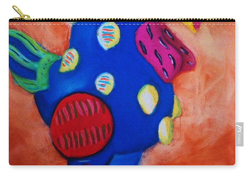 Chick Carry-all Pouch featuring the painting Hear Ye Hear Ye by Melinda Etzold