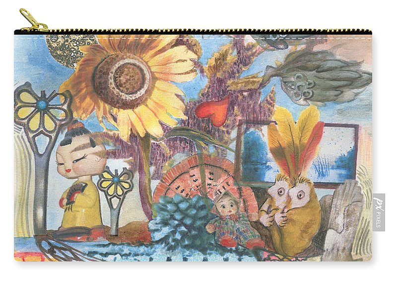 Abstract Carry-all Pouch featuring the painting Heart And Soul by Valerie Meotti