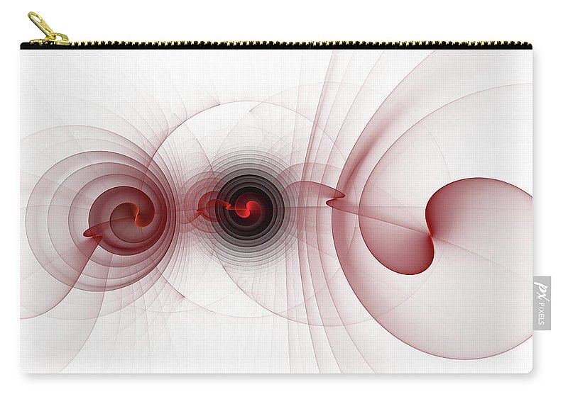 Abstract Carry-all Pouch featuring the digital art Heart Break - Abstract by Georgiana Romanovna