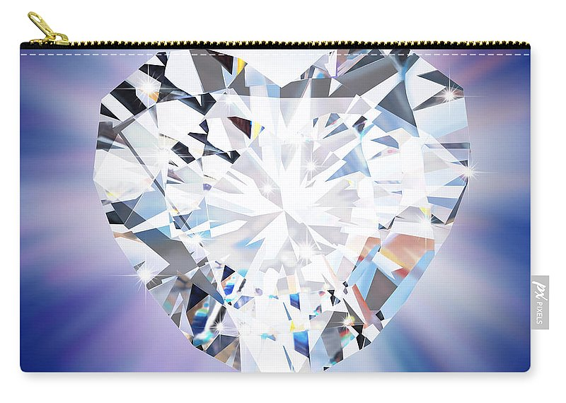 Abstract Carry-all Pouch featuring the photograph Heart Diamond by Setsiri Silapasuwanchai