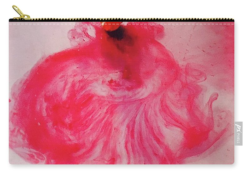 Dancing Carry-all Pouch featuring the painting Heart Meringue by ElReco Ramon