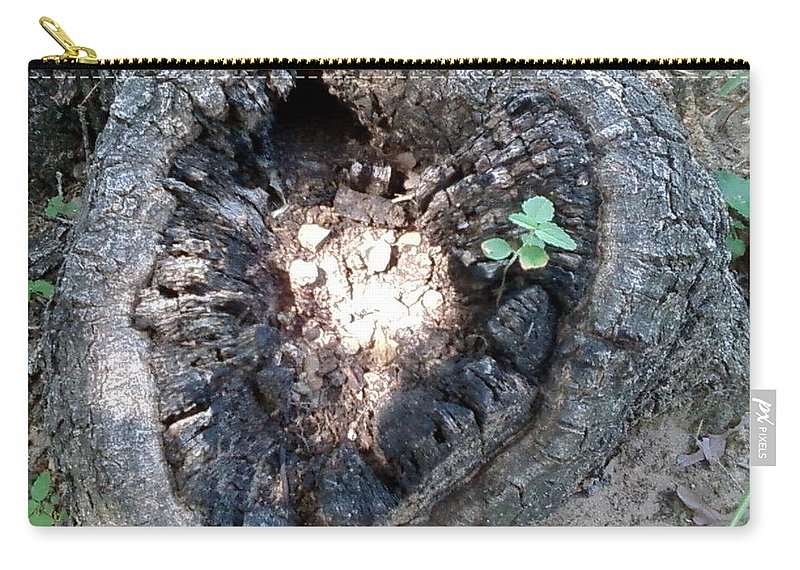 Carry-all Pouch featuring the photograph Heart Of A Tree by Cindy New