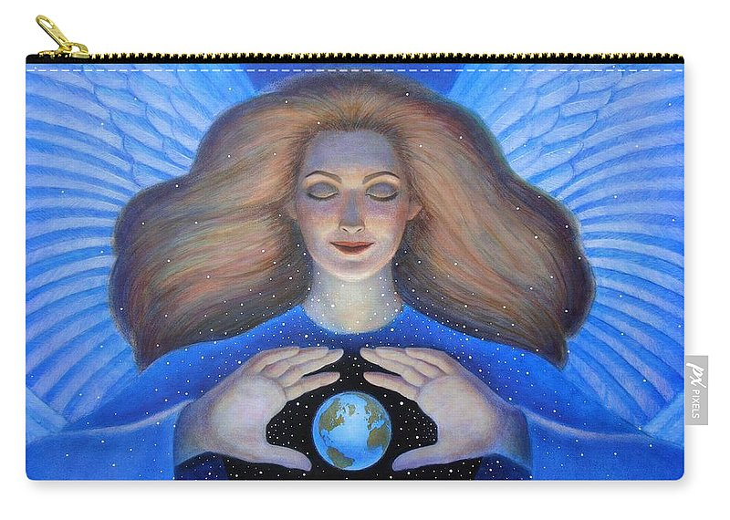 Goddess Carry-all Pouch featuring the painting Heart Of Creation by Sue Halstenberg