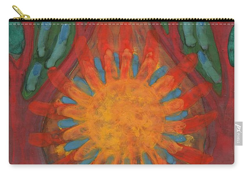 Colour Carry-all Pouch featuring the painting Heart Of Forest by Wojtek Kowalski