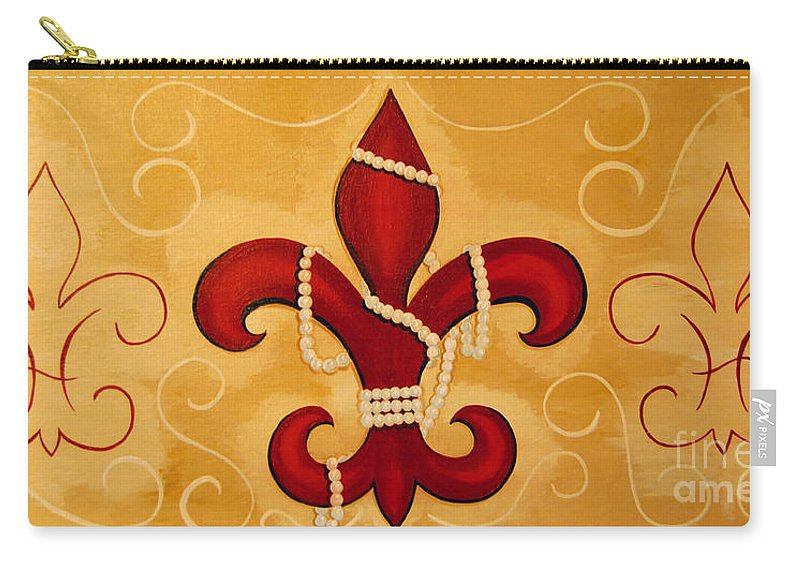 Fleur De Lis Carry-all Pouch featuring the painting Heart Of New Orleans by Valerie Carpenter