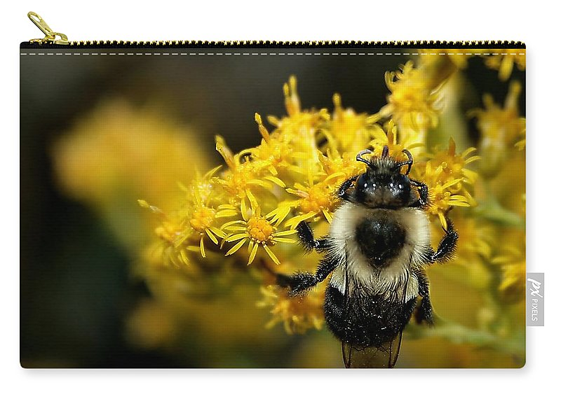 Bee Carry-all Pouch featuring the photograph Heart Of The Bee by Roger Becker