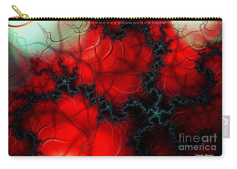 Clay Carry-all Pouch featuring the digital art Heart Pulse by Clayton Bruster