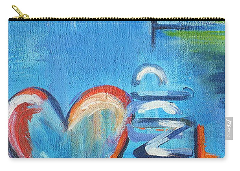 Acrylic Carry-all Pouch featuring the painting Heartache by Jutta Maria Pusl
