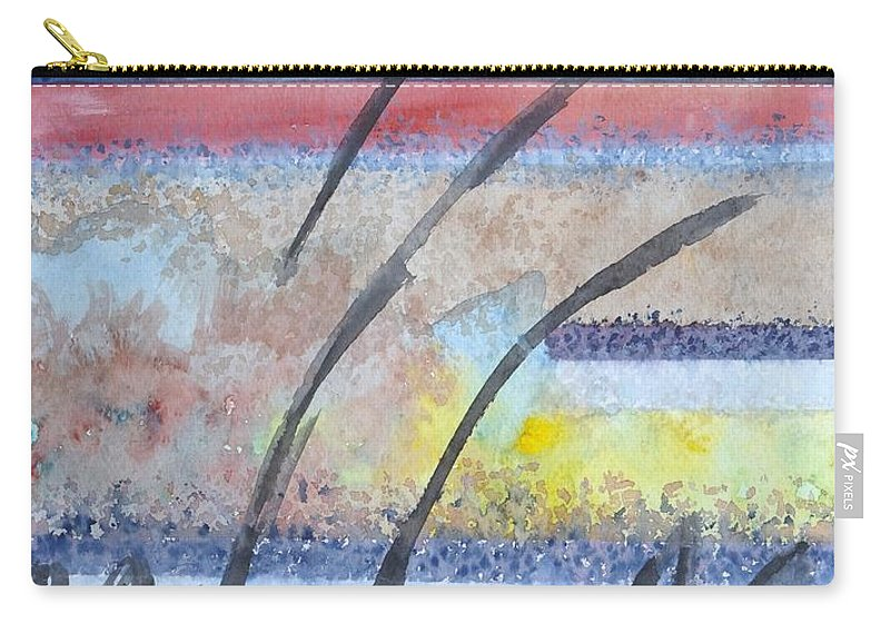 Abstract Carry-all Pouch featuring the painting Heartbeat by Jacqueline Athmann