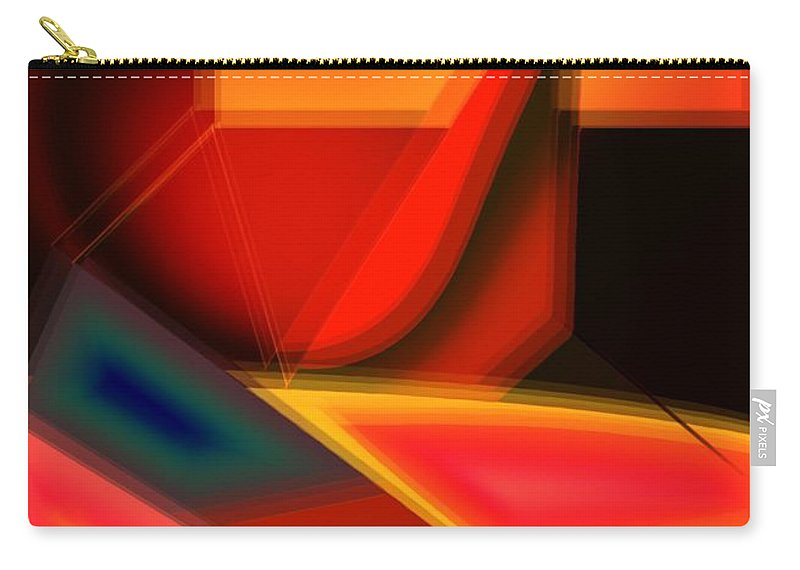 Heartbeat Carry-all Pouch featuring the digital art Heartbeats by Helmut Rottler