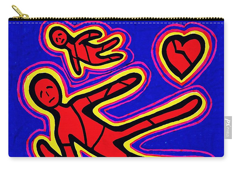Heart Carry-all Pouch featuring the drawing Heartbreak by Sarah Loft
