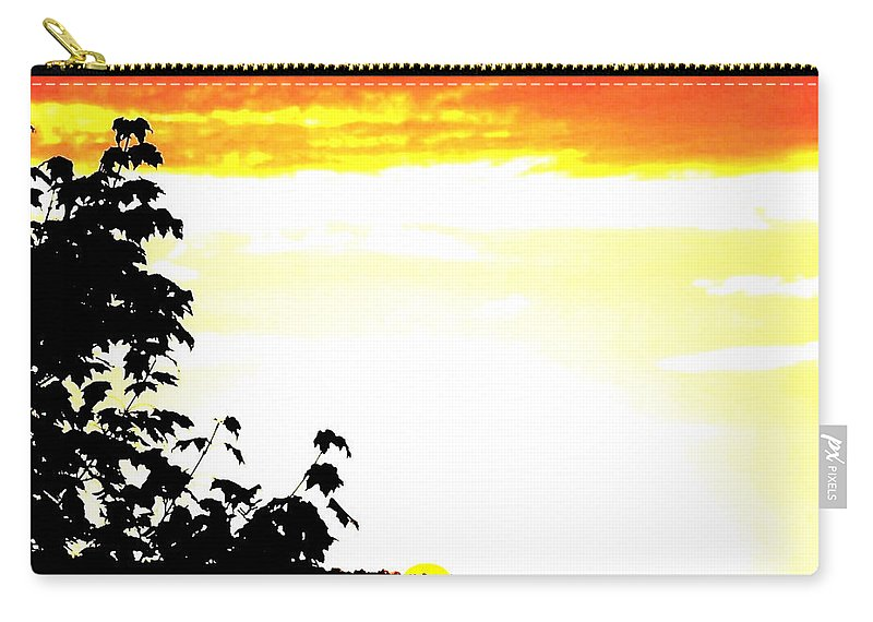 Heat Wave Carry-all Pouch featuring the digital art Heat Wave by Will Borden
