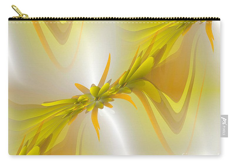 Abstract Digital Art Carry-all Pouch featuring the digital art Heavenly by Iris Gelbart