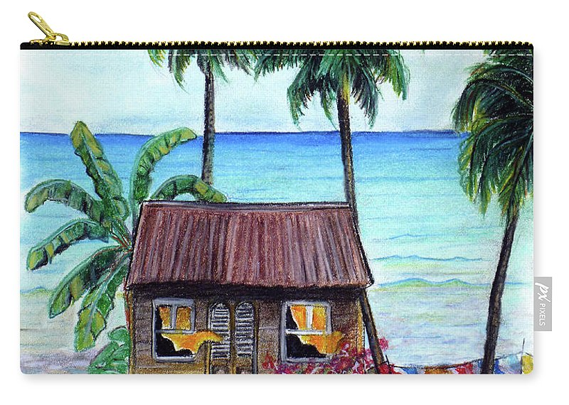 Beach Carry-all Pouch featuring the pastel Heavenly by Karin Dawn Kelshall- Best