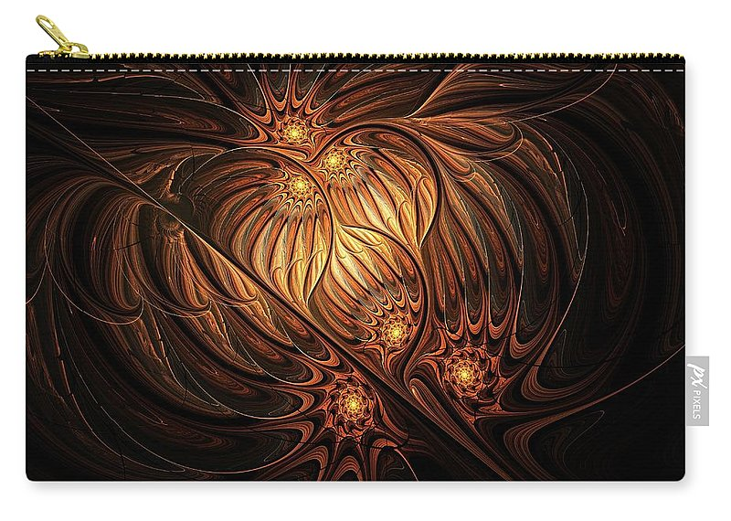 Digital Art Carry-all Pouch featuring the digital art Heavenly Onion by Amanda Moore