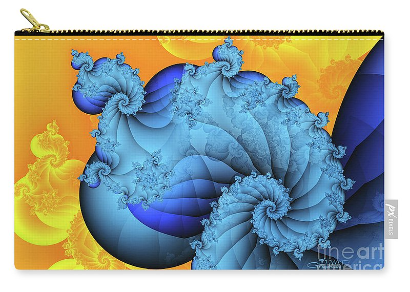Fractal Carry-all Pouch featuring the digital art Heavenly Place by Jutta Maria Pusl