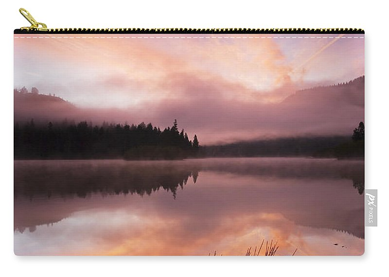 Sunrise Carry-all Pouch featuring the photograph Heavenly Skies by Mike Dawson