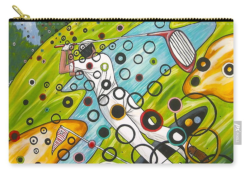 Golf Carry-all Pouch featuring the painting Heavenly Swing by V Boge