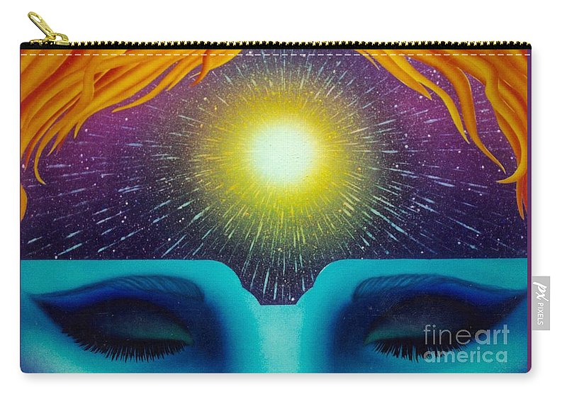 New Age Art Carry-all Pouch featuring the painting Heavens Door by Mark Beach