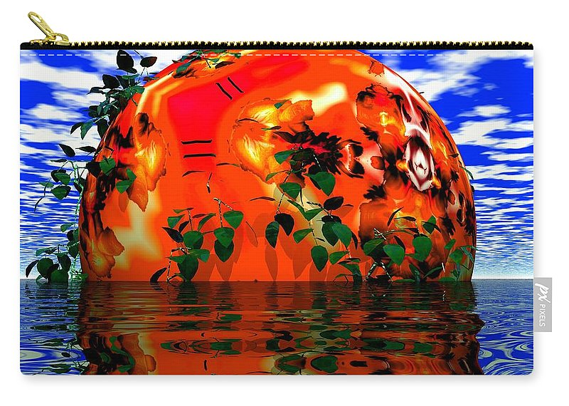 Sphere Carry-all Pouch featuring the digital art Heavens Scent by Robert Orinski