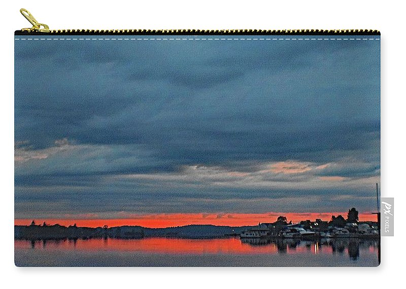 Heavy Carry-all Pouch featuring the photograph Heavy Cloud Cover by Joseph F Safin