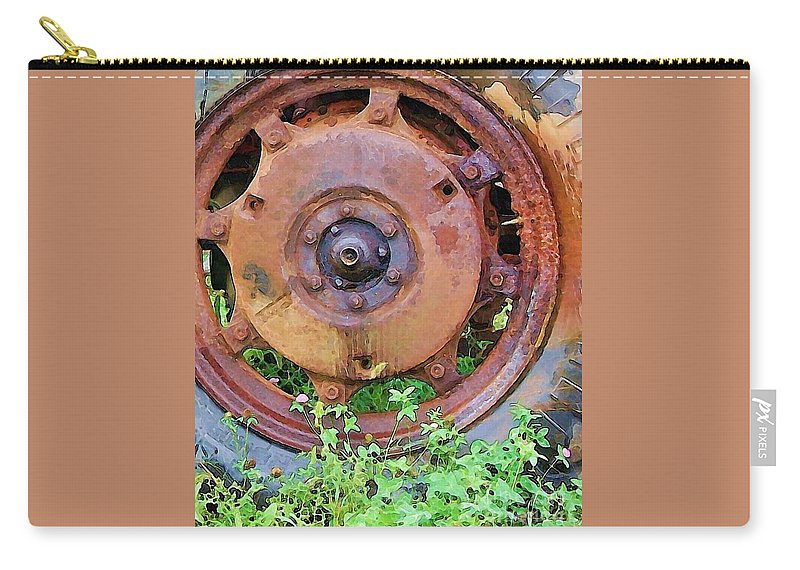Rust Carry-all Pouch featuring the photograph Heavy Metal by Debbi Granruth