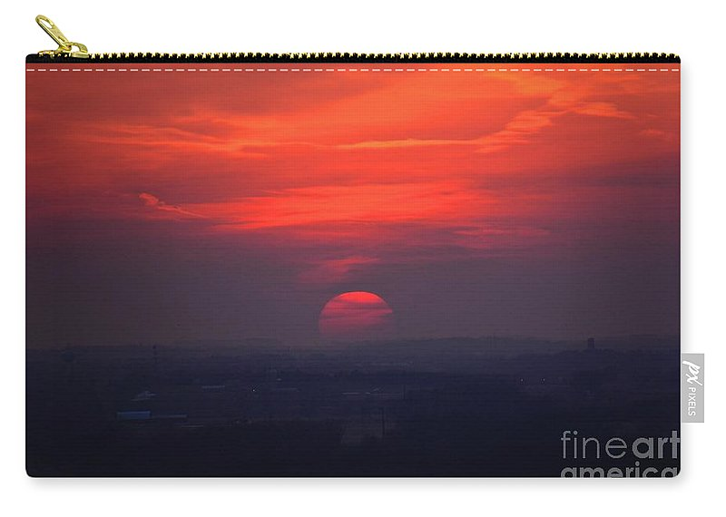 Sunset Carry-all Pouch featuring the photograph Heavy Sun by John Fabina