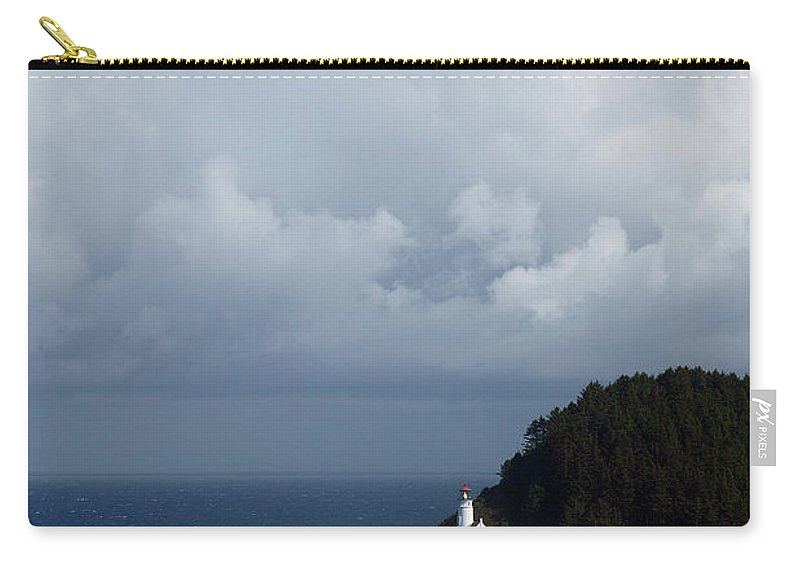 Heceta Head Carry-all Pouch featuring the photograph Heceta Head Lighthouse by Randall Ingalls
