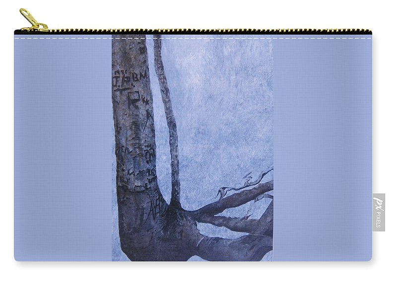 Tree Trunk Carry-all Pouch featuring the painting Hedden Park II by Leah Tomaino