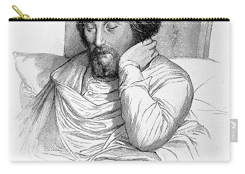 Historic Carry-all Pouch featuring the photograph Heinrich Heine, German Writer by Wellcome Images