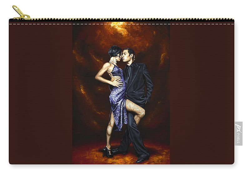 Tango Carry-all Pouch featuring the painting Held in Tango by Richard Young