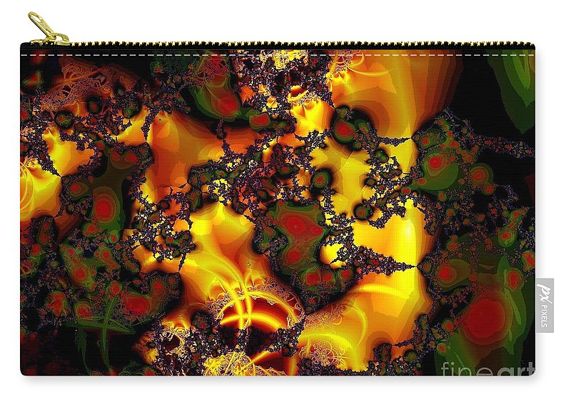Lace Carry-all Pouch featuring the digital art Held Together With Lace by Ron Bissett