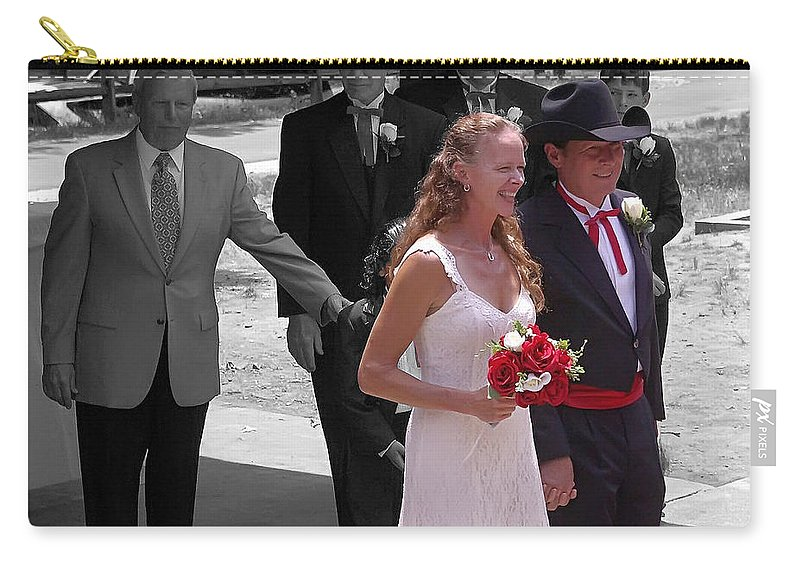 2d Carry-all Pouch featuring the photograph Helen And Bob by Brian Wallace