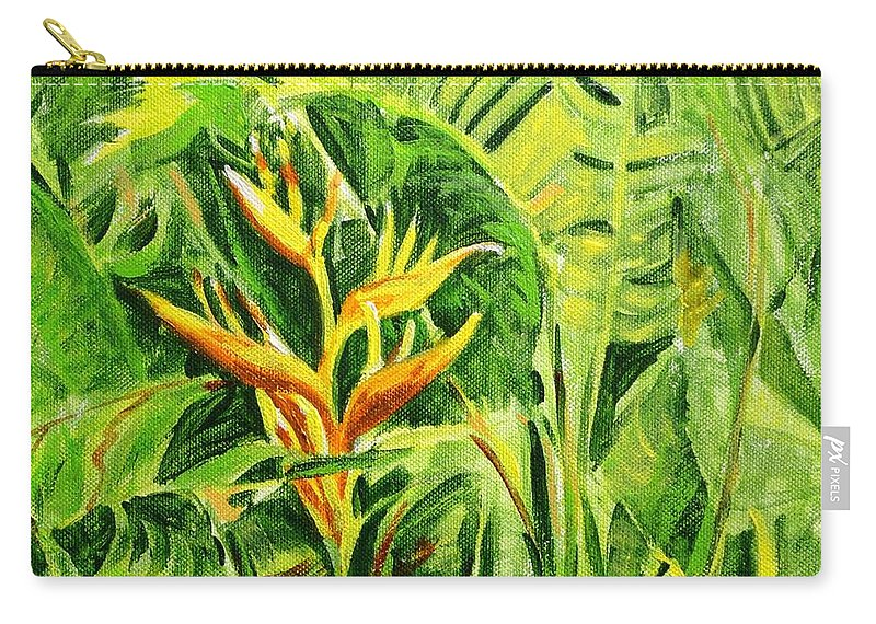 Flowers Carry-all Pouch featuring the painting Heliconia 8 by Usha Shantharam