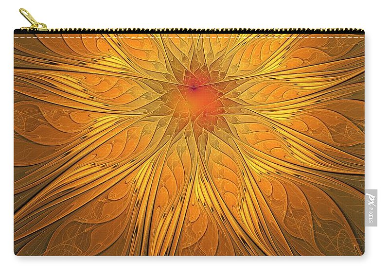 Digital Art Carry-all Pouch featuring the digital art Helio by Amanda Moore