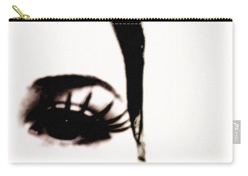 Eye Carry-all Pouch featuring the photograph Hello by Amanda Barcon