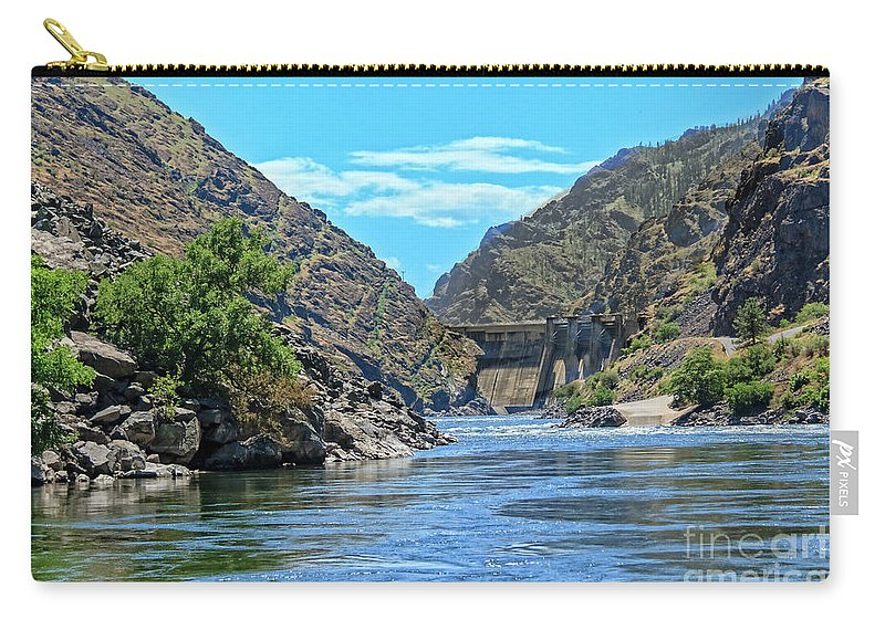 Canyon Carry-all Pouch featuring the photograph Hells Canyon Dam by Robert Bales