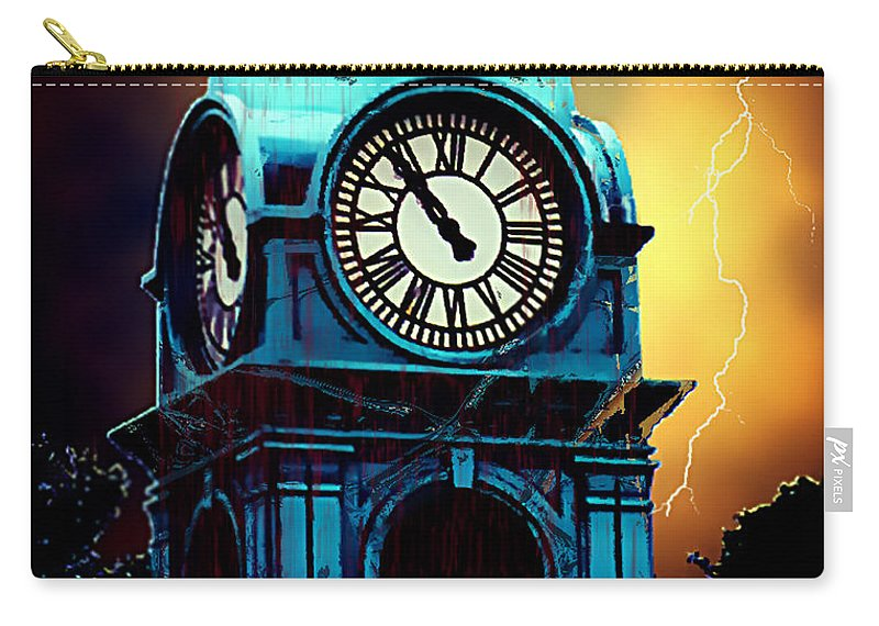 Blood Carry-all Pouch featuring the painting Hells Timeclock by RC DeWinter